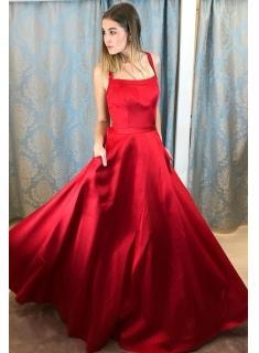 Rote Abendkleider Lang Günstig | Schlichte Abiballkleider Online_Abendkleider_Kleider für Besondere Anlässe_Brautkleider,Abiballkleider,Abendkleider